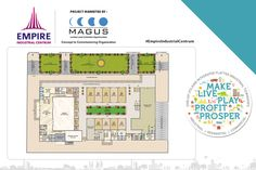 Check out the floor plan of the ground floor of the commercial space by Empire Centrum.  www.empirecentrum.com