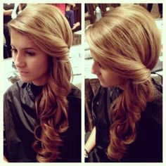 Fancy Hairstyles for Long Hair: One Side (hair idea for bubba's wedding)