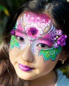 Design by: Jenny Saunders Colourful mask Girl Face Painting, Mask Painting, Face Painting Designs, Body Painting, Face Paintings, Face Paint Makeup, Fx Makeup, Extreme Makeup, Cool Face