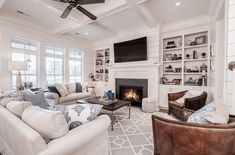 The Isle Home - Small Space Decor Updates Glamour Living Room, Fancy Living Rooms, Coastal Living Rooms, My Living Room, Living Room Designs, Living Room Decor, Small Room Design, Family Room Design, Decor Interior Design