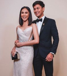 """Singer-actor Matteo Guidicelli was asked about plans of settling down with his girlfriend Sarah Geronimo and he said, """"Ready na ako! Filipiniana, Geronimo, Filipino, Frocks, Korean Fashion, Girlfriends, Singer, Actors, Formal"""