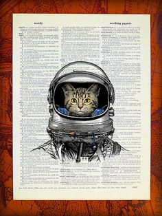 Shop for owl on Etsy, the place to express your creativity through the buying and selling of handmade and vintage goods. Cat Art Print, Owl Print, Owl Wall Art, Owl Nursery, Owl Pictures, Nerd Art, Dictionary Art, Cat Decor, Space Cat