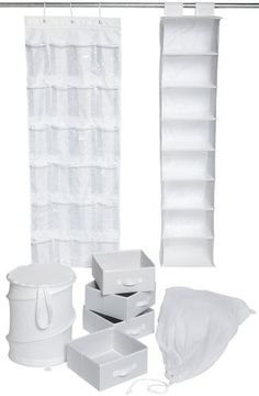 The Ultra College Closet Set - White is a fun item for college students. The best products for college include dorm stuff that's useful and can keep your closet clean. College closet organization is important for your dorm stuff. It's a great dorm item. Closet Storage Drawers, Laundry Closet Organization, Laundry Organizer, College Closet, College Dorm Rooms, Dorm Life, College Life, College Ready, Hanging Closet Organizer