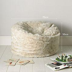 Faux Fur Beanbag - Large   The White Company