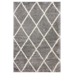 "nuLOOM Diamond Shag Area Rug - Gray (5' 3"" x 7' 6""), Grey"