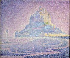 Paul Signac, Mont Saint-Michel. Brume et soleil, 1897. Huile sur toile, 46,7 cm x 55,5. Photo Maurice Aeschimann