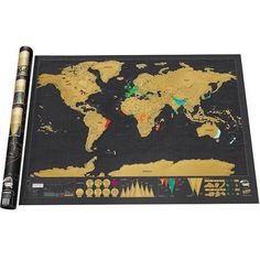 Scratch off and display the amazing places you've been with a scratch off map. Scratch off map is black with gold scratch off map. Scratch off map is made in the USA. Best selling scratch off map. World Map Poster, World Map Wall, Wall Maps, World Map Travel, Travel Maps, Travel Europe, Travel Destinations, Cadre Design, Poster Mural