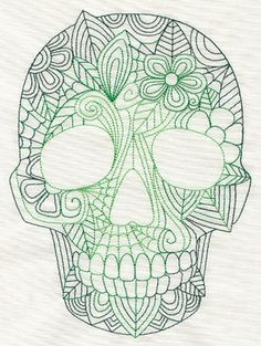 Blooming Skull | Urban Threads: Unique and Awesome Embroidery Designs