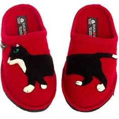 Shop a great selection of HAFLINGER Women's Boiled Wool Slippers - Babsy Cat European Indoor House Shoe. Find new offer and Similar products for HAFLINGER Women's Boiled Wool Slippers - Babsy Cat European Indoor House Shoe. Red Slippers, Clog Slippers, Smoking Slippers, Womens Slippers, Toe Warmers, Rain Shoes, Winter Shoes For Women, Comfy Shoes, Winter Accessories