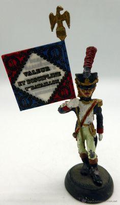 Soldado napoleónico estandarte plomo Almirall Palou Ref 001 años 90 - Foto 1