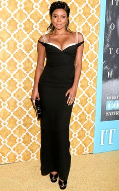 Gabrielle Union in an off-the-shoulder black dress