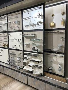 Design Bath and Hardware Beautiful soap Hardware Display Design Shop, Bath Design, Showroom Interior Design, Showroom Ideas, Bathroom Shop, Bathroom Designs, Bath Showroom, Bathroom Showrooms, Ellora
