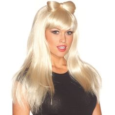 Lady Gaga Blonde Wig with Bow Lady Gaga Wig, Lady Gaga Costume, King Costume, Costume Dress, Pop Star Costumes, Halloween Costumes, Celebrity Costumes, Fancy Dress For Kids, Blonde Wig