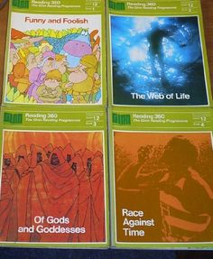 Readers Level 12 - Set of 4 books: Funny and Foolish, The Web of Life, Of Gods and Goddesses, Race Against Time (Ginn Reading 360 Programme) Reading Books, Books To Read, Gods And Goddesses, Old Skool, School Days, Textbook, Fun Stuff, Nostalgia, Racing