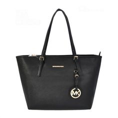Michael Kors Jet Set Saffiano Travel Medium Black Totes.More than 60% Off, I enjoy these bags.It's pretty cool (: Check it out!   See more about michael kors jet, kors jet set and michael kors.
