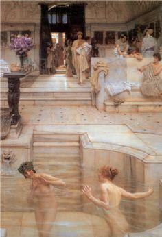 public bath by Tadema