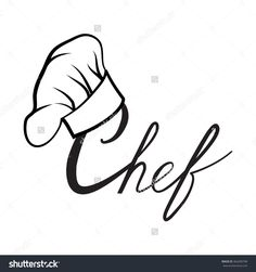 Cook Hat Drawn Hat Chef Cook Stock Vector 364280798 - Shutterstock