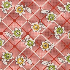 American Jane Punctuation Daisies Red by Moda