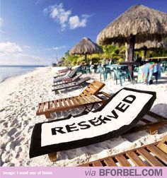 """""""Reserved"""" Beach Towel #gifts #summer"""