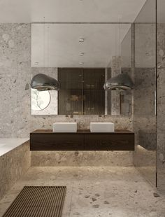 Sergey Makhno Architects Alexander Makhno on Behance Bathroom Spa, Modern Bathroom, Small Bathroom, Concrete Bathroom, Minimalist Bathroom, Washroom, Bathroom Flooring, Bathroom Faucets, Cheap Bathrooms