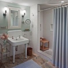 Thinking Shower Curtain Instead Of Doors. Renovated Bath   Traditional    Bathroom   Boston   By Solomon+Bauer+Giambastiani Architects