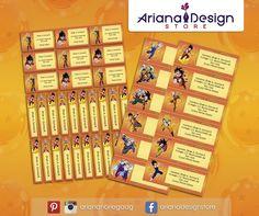 #etiquetasescolares #schoolstickers #nametags #arianadesignstore #dragonball #anime #label