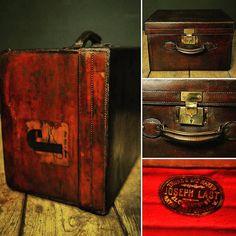 Boîte à chapeaux carré en cuir Joseph Last