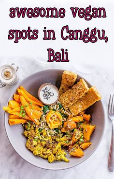 After spending nearly a month in Ubud, Canggu definitely felt different. I guess I was expecting another Ubud, but the structure of the town was completely different. Vegan Recipes Easy, Indian Food Recipes, Ethnic Recipes, Turmeric Cauliflower, Perfect Breakfast, Vegan Treats, Breakfast Bowls, Ubud, Plant Based Recipes