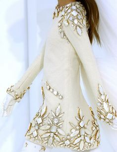 snowy winter white sparkling jeweled sweater. I want this sweater. <3