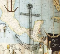 Anchor with a map....my favorite things.