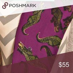 LulaRoe Purple Alligator Gators croc OS unicorn Brand new! HTF LuLaRoe Pants Leggings
