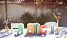 alphabet theme for baby shower