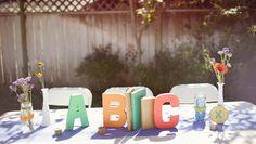 alphabet theme for baby shower