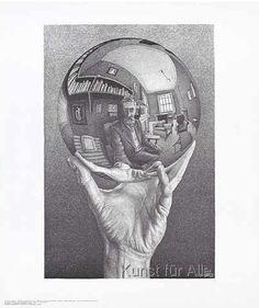 Maurits Cornelis Escher - Hand mit Kugel 53