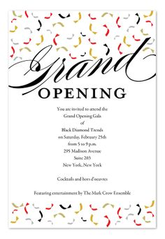 Grand opening invite invites pinterest grand opening vip card trendy opening wedding invitation wordingparty stopboris Choice Image
