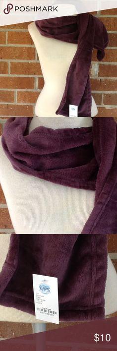 The Walking Company Cozy Scarf Deep Purple Fluffy Scarf The Walking Company Accessories Scarves & Wraps