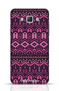 Tribal Striped Pattern Purple Samsung Galaxy A5 Phone Case