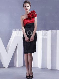 red and black bridesmaid dress?