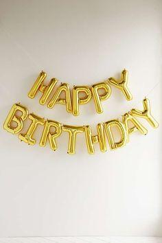 Slide View: 2: Kit de ballons de fête métallisés Happy Birthday