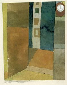 Paul Klee 'Interieur, Innenraum mit Uhr' (Interior room with Clock [my own translation g.s.]) 1915 Watercolor 15.8 x 19.7 cm
