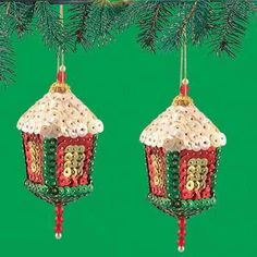 sequin ornament kits   Kit Makes 3 Holiday Tree Sequin Bead