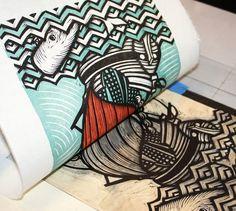 peter-nevins-sea-of-love-woodcut-print-ADDITIONAL-53d6b52989ee9.jpg (1000×896)