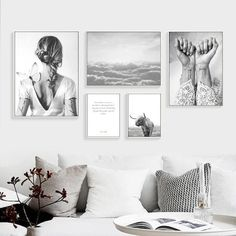 Cheap wall art canvas, Buy Quality art canvas directly from China posters and prints Suppliers: Nordic Poster Abstract Wall Art Canvas Painting Nordic Cuadros Decoracion Posters And Prints Canvas Pictures No Poster framed Black And White Posters, Black And White Wall Art, Black And White Abstract, Black White, Wall Art Pictures, Canvas Pictures, Design Apartment, Typography Prints, Abstract Wall Art