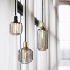 Buy Amp Pendant Lamp from Normann Copenhagen. Amp is a range of small lamps inspired by old tube amplifiers from the The unique shapes and classi. Pendant Lamp, Pendant Lighting, Led E14, Small Lamps, Black Lamps, Mason Jar Lamp, Chandeliers, Floor Lamp, Bulb