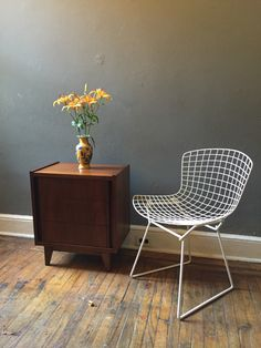 A personal favorite from my Etsy shop https://www.etsy.com/listing/252809966/mid-century-modern-bertoia-chair-danish