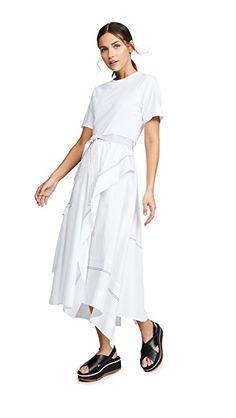 82d783720ebc68 3.1 Phillip Lim T-Shirt Combo Poplin Dress | SHOPBOP Poplin Dress, Top  Stitching