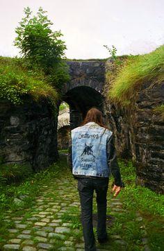 """metal-battle-jacket: """" Fenriz of Darkthrone in Bergen, Norway By Peter Beste """" Black Metal, Battle Jacket, Revival Clothing, Boys Long Hairstyles, Power Metal, Sombre, Thrash Metal, Crazy People, Metalhead"""