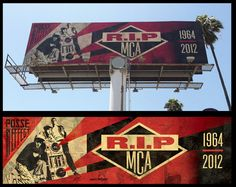 Another awesome MCA tribute. This time by Shepard Fairey.