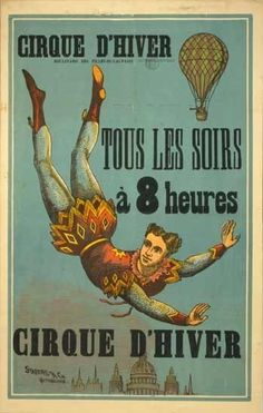 French circus poster by dixie