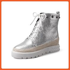 Women's Soft Material Closed Round Toe Solid Low-top High-Heels Boots with Rivet